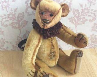 Brooks, one of a kind artist teddy bear, vintage styled