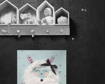 Table room child/baby, wall decoration, sheep