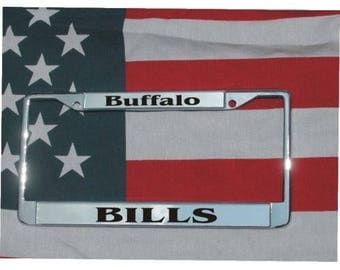 BUFFALO BILLS Football Chrome Laser Engraved License Plate Frame FREE Shipping