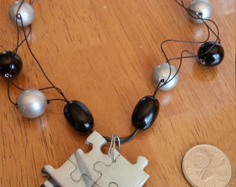 Classy puzzle necklace