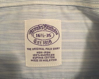 Vintage Retro Brooks Brothers Button Down