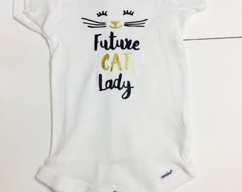 Future Cat Lady Onesie