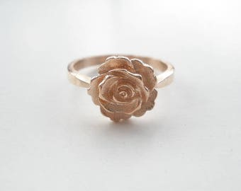 D 389 Handmade sterling silver  ring ROSE
