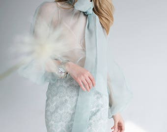 Love to Love You mint organza blouse