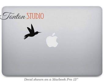 Hummingbird Macbook Decal / Bird Macbook Sticker / Laptop Notebook Removable Vinyl Sticker Skin - G033