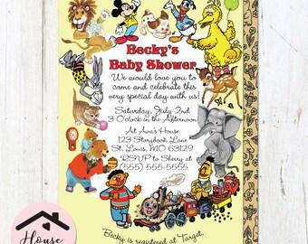 Little Golden Books Baby Shower Invitation, Baby Shower Invite, Little Golden Book, Storybook Invitation, Storybook Shower, Printable, DIY