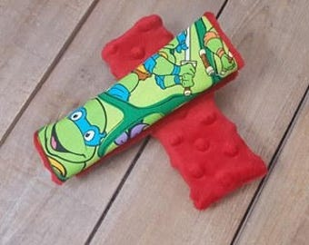 Turtles Reversible Car Seat Strap Covers - Baby Item - Pattern Car Seat Strap Covers