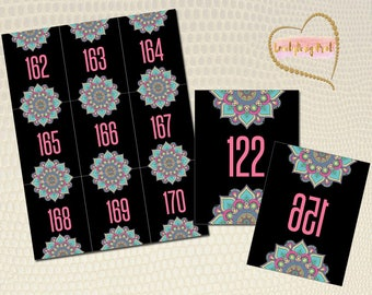 """Live Sale Number Cards, Leafy Cards, Numbers 001 - 200, Reverse Numbers, 8.5""""x11"""" Sheets, Home Office Approved, Live Sale Numbers, LLR"""