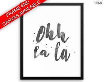 Oh La La Prints  Oh La La Canvas Wall Art Oh La La Framed Print Oh La La Wall Art Canvas Oh La La French Art Oh La La French Print Oh La La