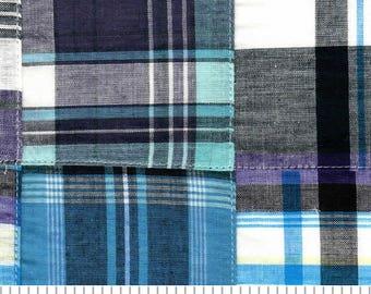 Madras Plaid Fabric -  Cotton- SALE - Fabric Finds Fabric  - 1 Yard