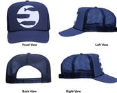 3 Whale Trucker Hat by Chris Viverito aka The Captain Surfs