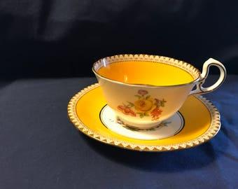 Aynsley Tea Cup and Saucer Set
