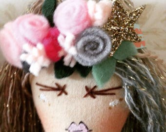 Handmade cloth art doll sophia