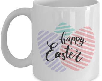 Easter Ceramic Mug, Happy Easter mug, Easter mug, Easter coffee mugs, easter gifts, easter gifts for women, easter gift ideas