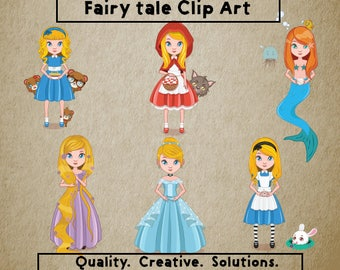 Fairy Tale Clip Art,Disney Princess Clip Art,Disney Princess SVG,Fairy tale SVG,Fairy tale png,300 ppi,Instant Download,Printable