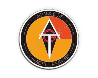 Alliance of Galactic Travellers Lapel Pin - 25mm