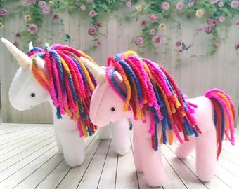 Rainbow Unicorn Soft Toy Plushie Stuffed Animal Doll Soft Sculpture