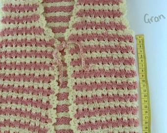 Hand knitted  vest for girl