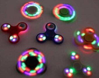LED fidget spinner toy