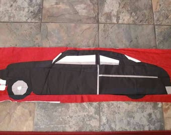 Paper pieced quilt block 1949 Mercury coupe
