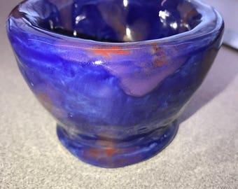 Blue Pinch Pot