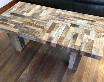 Reclaimed coffee table, barn wood table, farmhouse style, rustic wood, handmade furniture