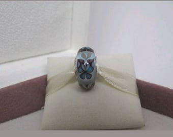 Sale- Authentic Pandora Blue Butterfly Kisses Murano Glass Charm/New/Ale/s925/Pandora