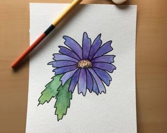 Daisy Watercolor Original