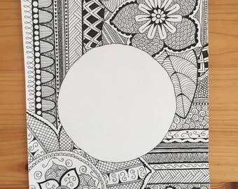 Circle mandala drawing