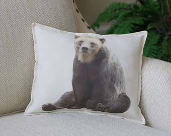 Brown Bear Photograph Pillow