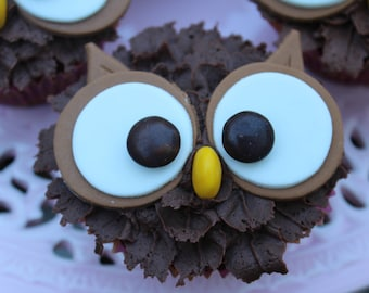 Owl Eyes Cupcake Toppers - perfect for celebration cupcakes