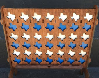 Connect Four, Wooden Game, Texas Game, Board Game