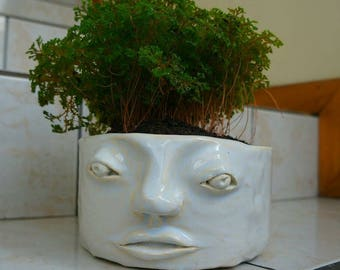 Indigenous /Rostro ceramic pot