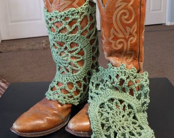 Boot Covers done in Green Cotton
