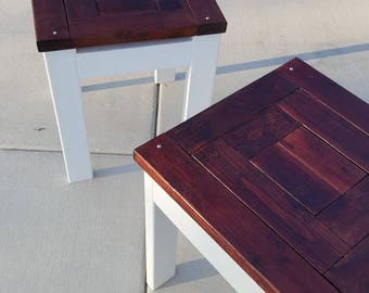 Custom Rustic Wood End table/Night stand