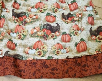 2 panel pumpkin 1/2 apron