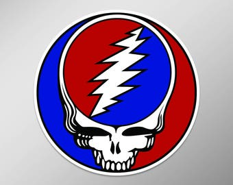 Grateful Dead Decal | Steal Your Face Decal  | Full Color | 5.5 Inch Vinyl Laptop Decal | Grateful Dead Sticker | Dead Head Decal