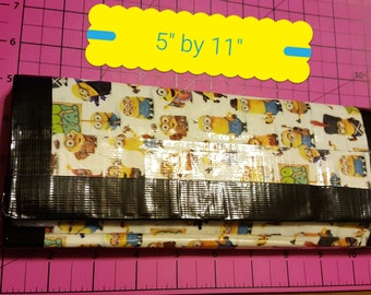 Handmade Minion Duct Tape Trifold Wallet