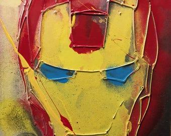 Iron Man Abstract Art