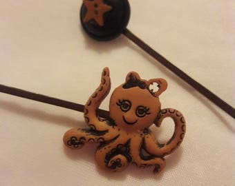 Cute octopus hair pins