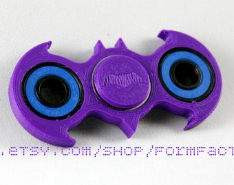 Best Fidget Spinner Toy! Batman Fidget Toy Spinner Fidget Hand Spinner with Ceramic Bearings. Spinner Fidget in Purple & Custom Colors.