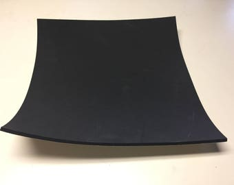 "Black, Closed Cell Sponge Rubber, Adhesive Backing, 1/4"" thick, 16x16"" square"
