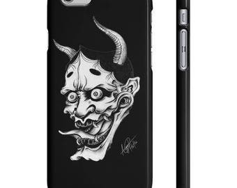 Japanese Hannya Mask - Iphone And Galaxy - Tattoo Inspired Art on Phone Case