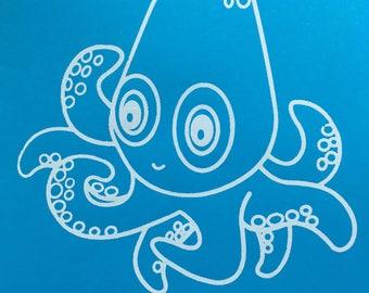 Cute Octopus Screen Print Baby Clothing