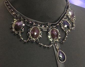 Handmade harness necklace