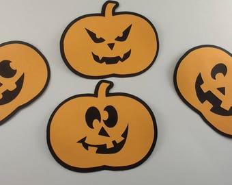 Large Layered Pumpkin Die Cut Set of 4