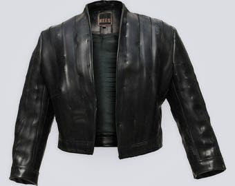 Bike(r) Jacket - Non-leather, Recycled Rubber, Vegan
