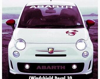 1950-2017 Fiat Abarth Vinyl Windshield Body Decal Sticker New Custom 1PC 10 Colors