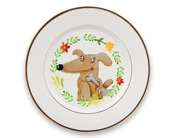 Wall plate, Dekoteller, decoration plate, plate, kitchen decoration, gift, kitchen, illustration, drawing