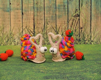 Crocheted snails